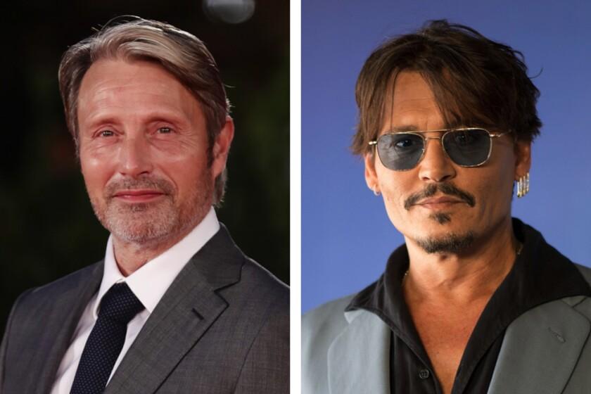 Portraits of Mads Mikkelsen and Johnny Depp