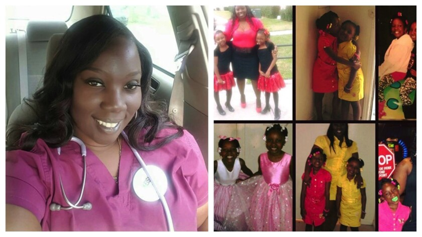 Keisha Williams and her daughters, Kiaja and Kinaya, now 13 and 10. Williams, 32, drowned in the flo