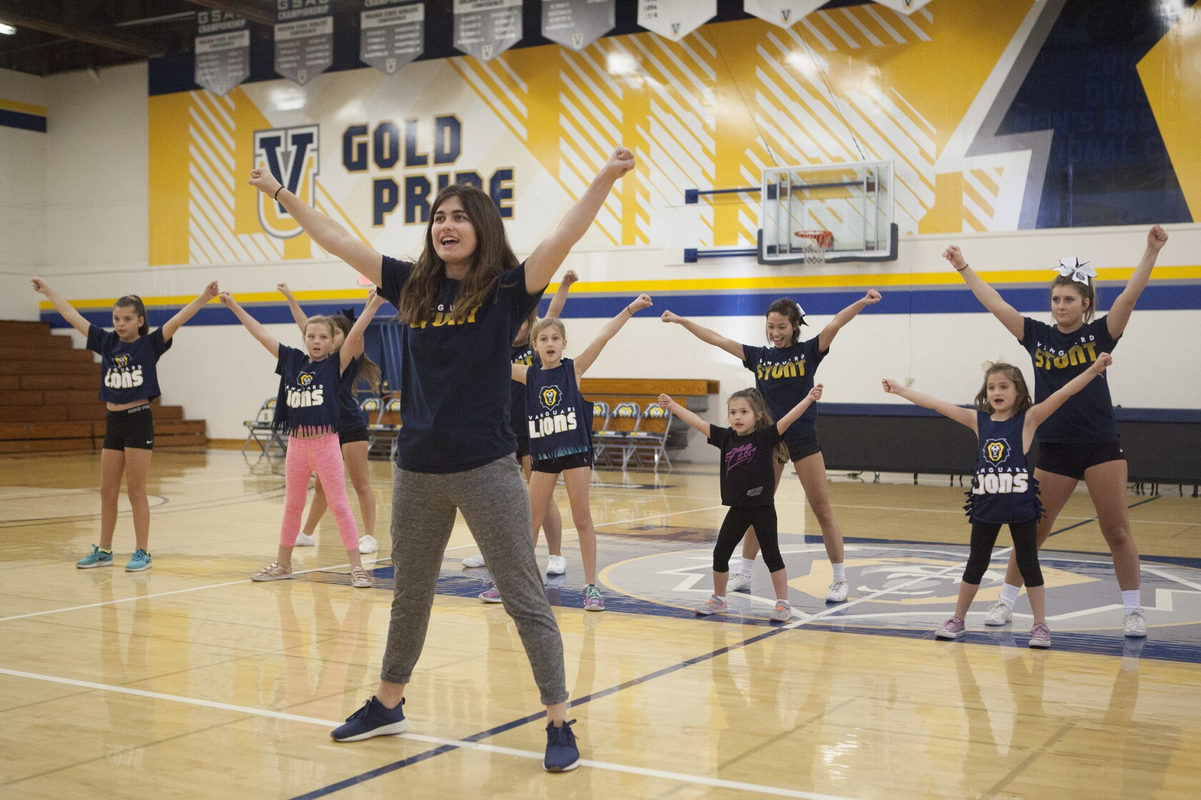 Vanguard University brings on the pep for local kids at