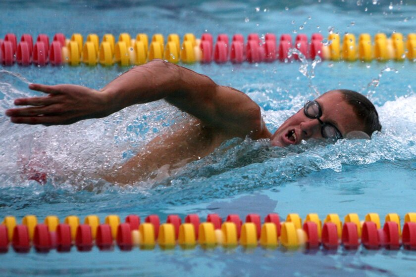 Mt. Carmel junior Grant Schenk won San Diego Section Division II titles last spring in the 200- and 500-yard freestyle.