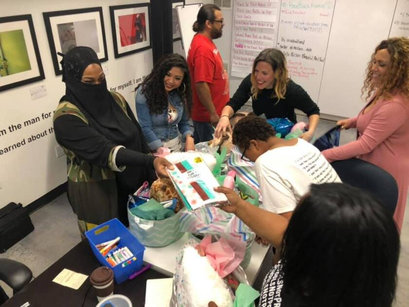 """Organizers with the DeDe McClure Community Bail Fund worked Friday putting together care baskets for mothers who would be released from jail. The group posted bail for three mothers Thursday and planned to post bail for at least five more mothers Friday as part of their """"Black and Brown Mama Bailout"""" campaign."""