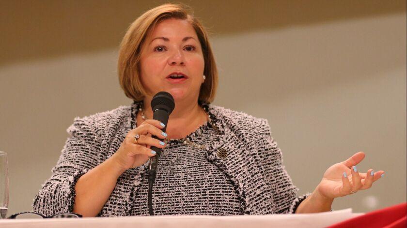 FULLERTON, CALIF. -- THURSDAY, AUG. 3, 2017: Rep. Linda Sanchez, of the 38th Congressional Distric