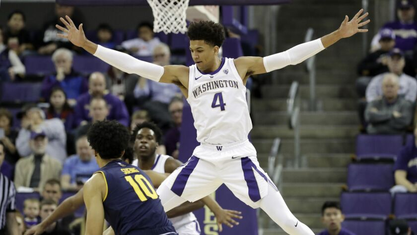 Washington's Matisse Thybulle spearheads a 2-3 zone defense that has yielded 70 points only once in conference play this season.