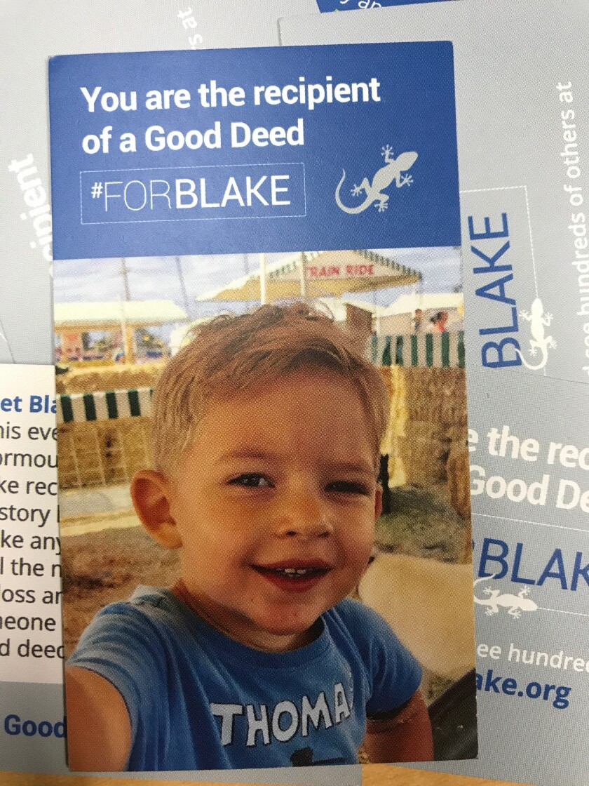 For Blake cards that can be given out with good deeds.
