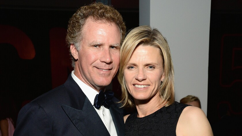 Actor Will Ferrell and Viveca Paulin