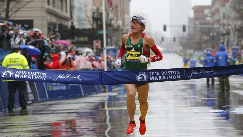 122nd Boston Marathon, USA - 16 Apr 2018
