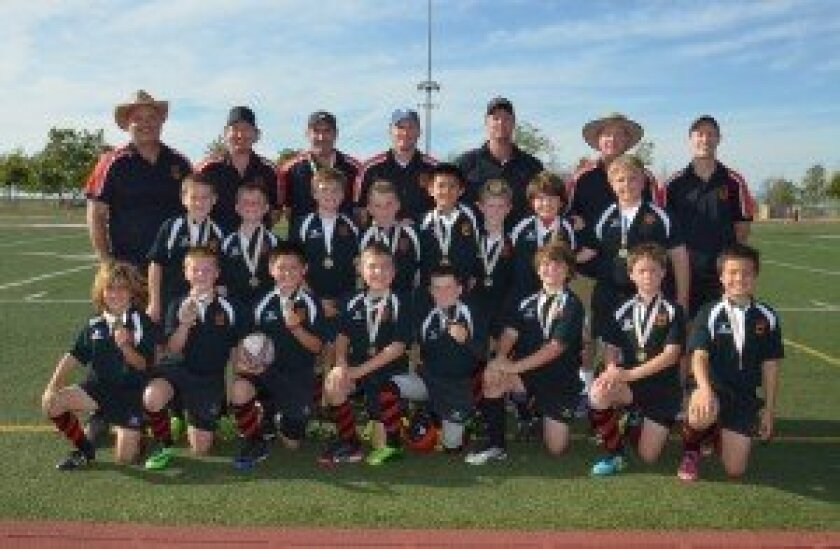 BackBay San Diego Youth Mustangs Rugby Club U10 winners. Photo/Rugby Action Photo