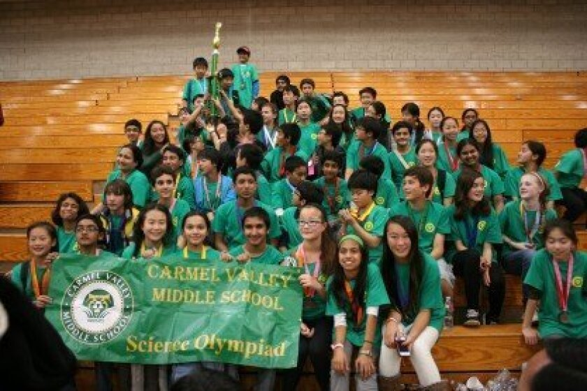 The winning Carmel Valley Middle School Bobcats. Courtesy photos