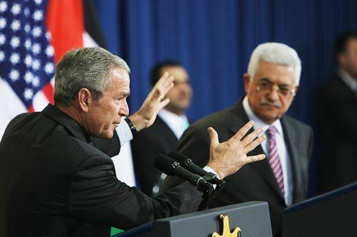 Bush and Abbas speak