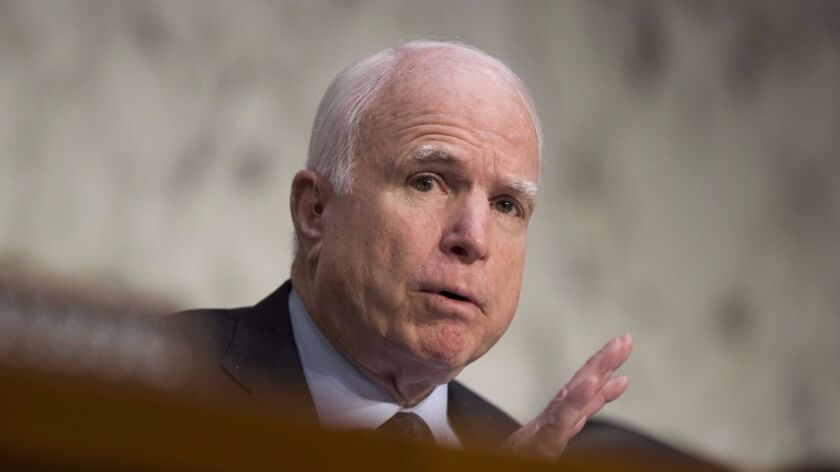 Sen. John McCain (R-Ariz.) withdrew his endorsement of Trump in October of 2016, after a tape surfaced featuring the presidential candidate making lewd comments about women.
