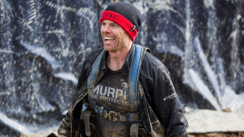 Joe De Sena, endurance athlete and founder and CEO of the grueling Spartan obstacle races, at a prev