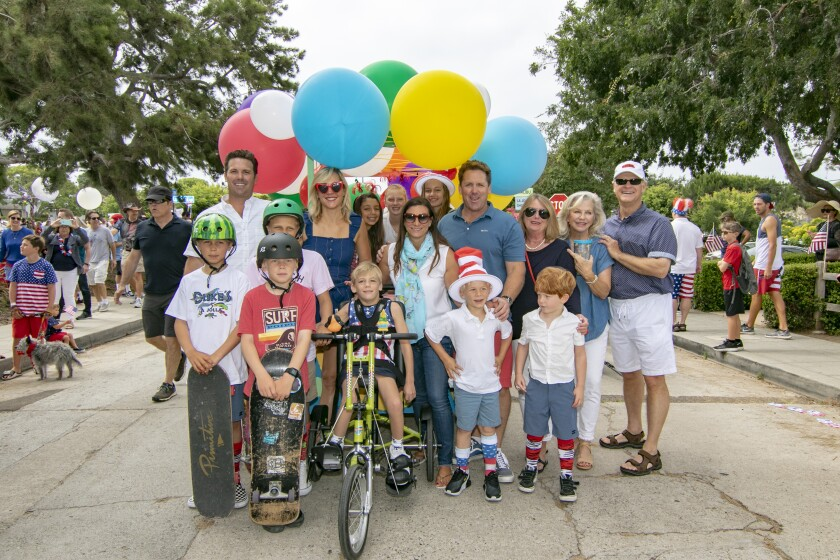 The Murfey family and friends attend a past Fourth of July Parade in Bird Rock.