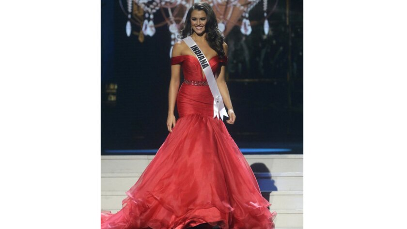 Mekayla Diehl participates in the evening gown competition of Miss USA 2014.