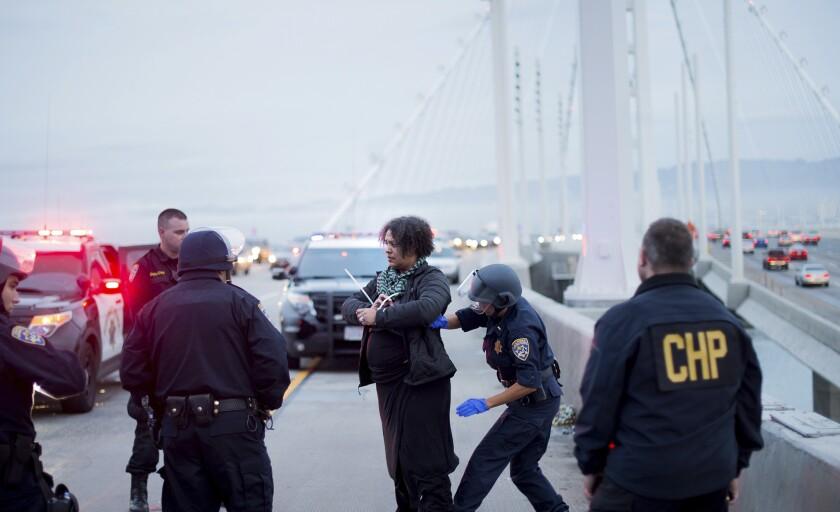 Protester arrested on Bay Bridge