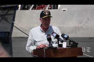 Navy secretary tours San Diego, pledges to fix destroyer crash problems