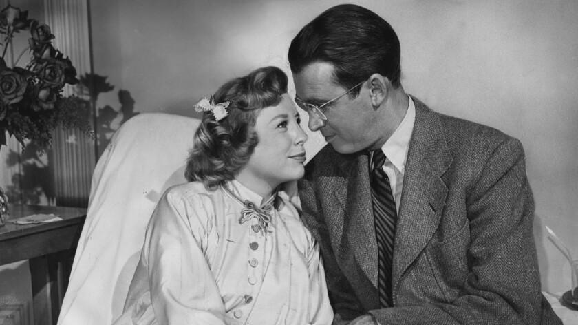 """June Allyson and Jimmy Stewart in """"The Glenn Miller Story"""""""