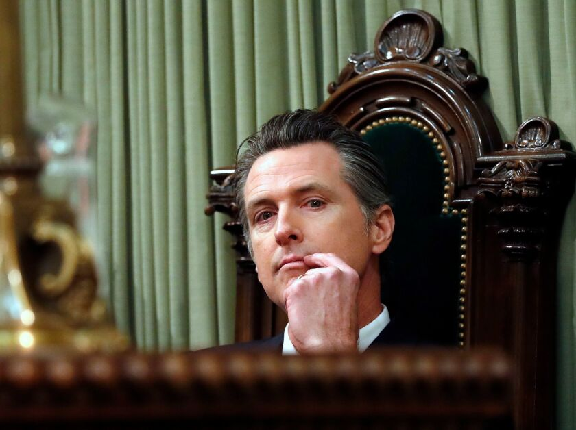 The jury's still out on Newsom as governor — but he did OK his first year