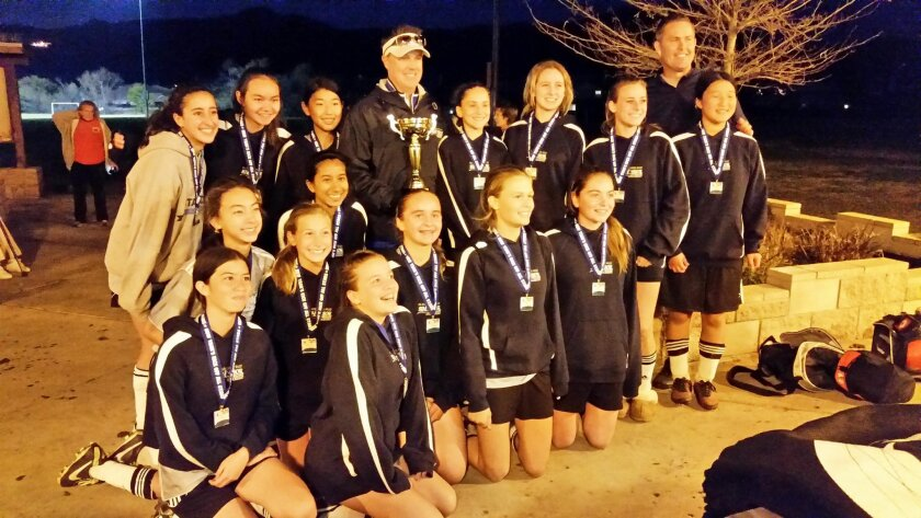 Congratulations to the DMCV Sharks Girls U14 All-Star team for winning the Escondido New Year's Kickoff All Star Tournament recently.