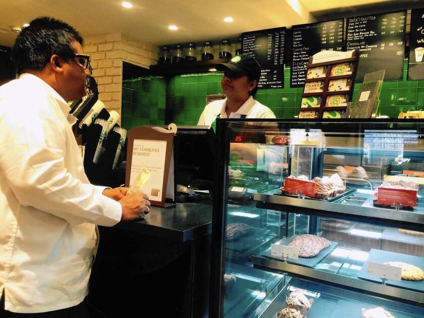 The case at the Starbucks in the Chowpatty neighborhood of Mumbai, India, contains only meatless fare.