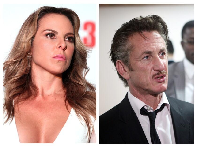 Fotografías de archivo de la actriz mexicana Kate del Castillo y del actor estaounidense Sean Penn.