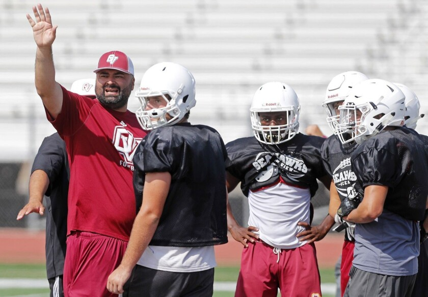 Luis Nuñez led the Seahawks to a 46-43 record and two Pac 4 League championships in nine seasons as Ocean View's coach.