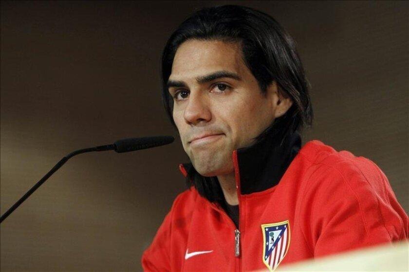 El delantero colombiano del Atlético de Madrid, Radamel Falcao. EFE/Archivo