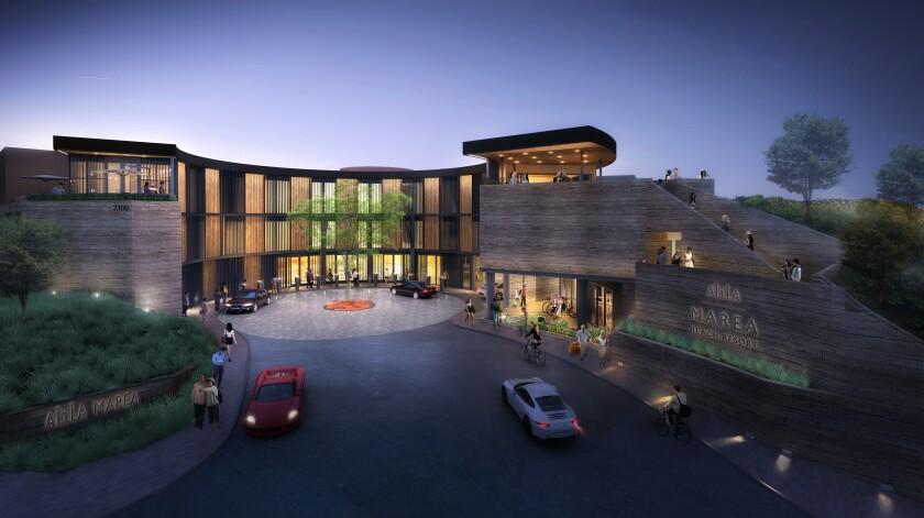 A rendering of the new Alila Marea Beach Resort now under construction in Encinitas.