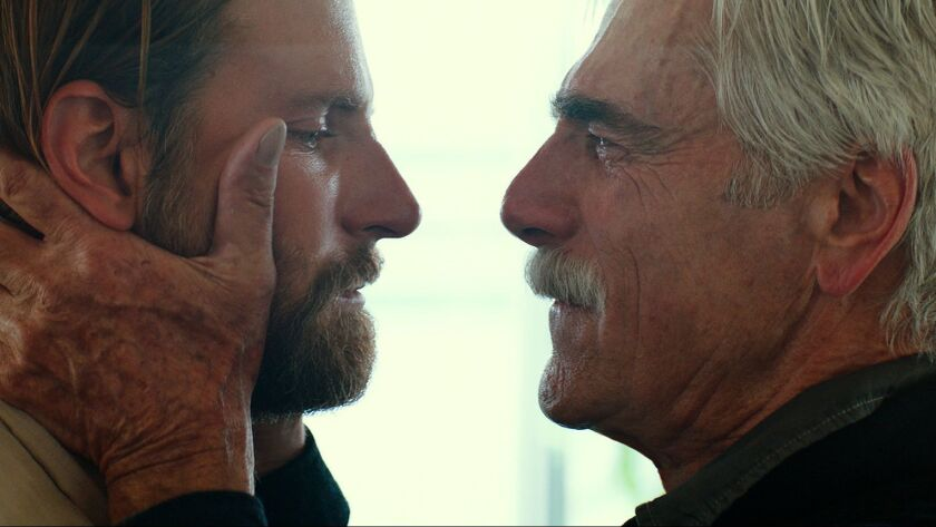 "(L-R) - Bradly Cooper and Sam Elliot in a scene from ""A Star is Born."" Credit: Warner Bros. Pictures"
