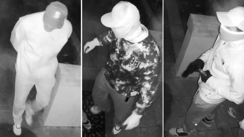 Suspects in a Seattle-area burglary-ring case are shown in surveillance tape from the Bellevue Police Department.