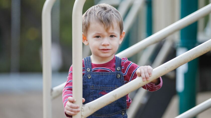 SAN DIEGO, CA October 23rd, 2018 | Jett Roper, 21 months, plays on Tuesday at Kit Carson park in Esc