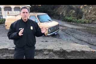 La Tuna Canyon mudslides