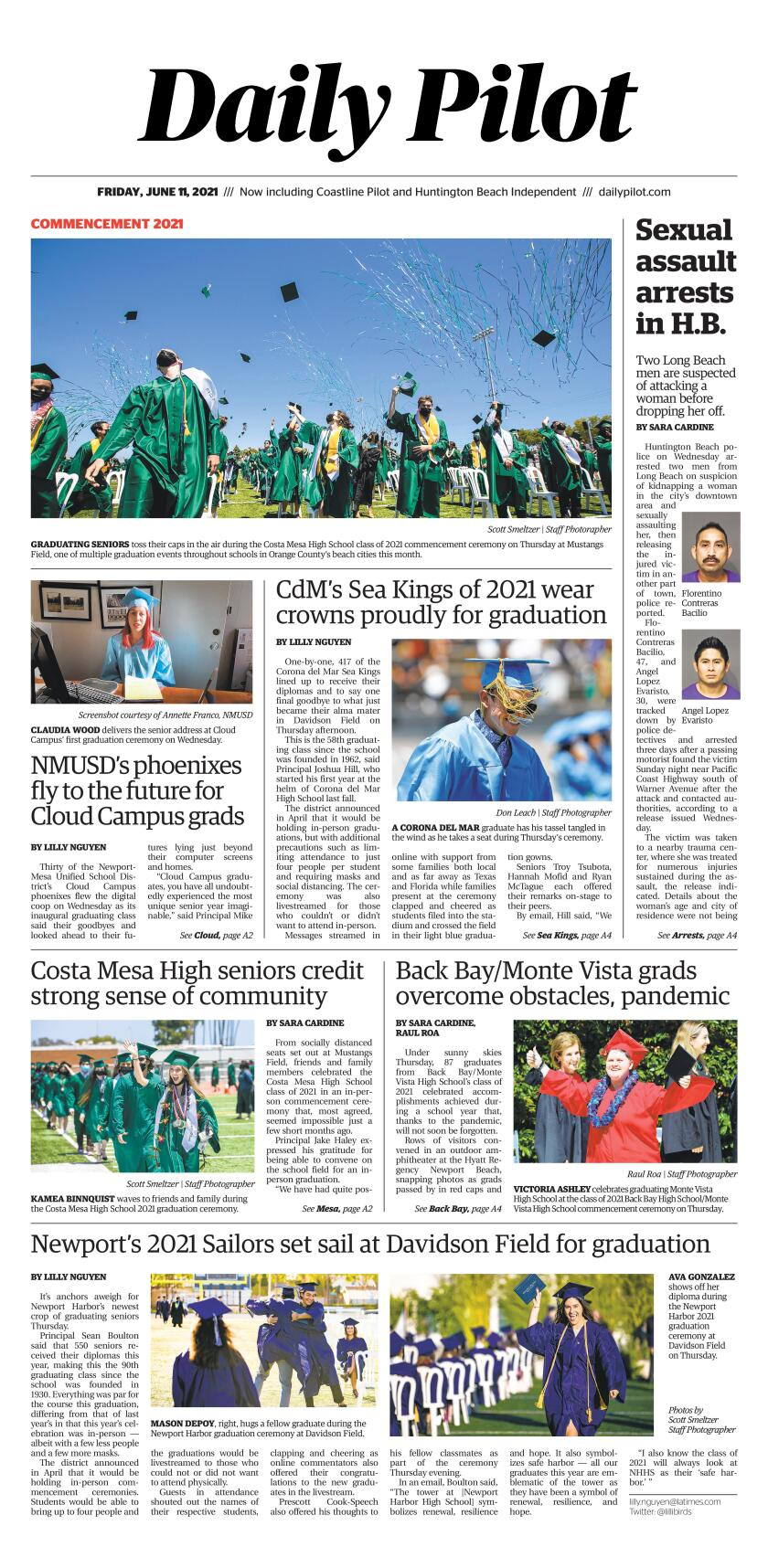 June 11 2021 Daily Pilot cover