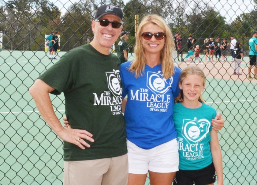 Mosebrook with her partner, Kip, and her daughter, Mia. Courtesy photo
