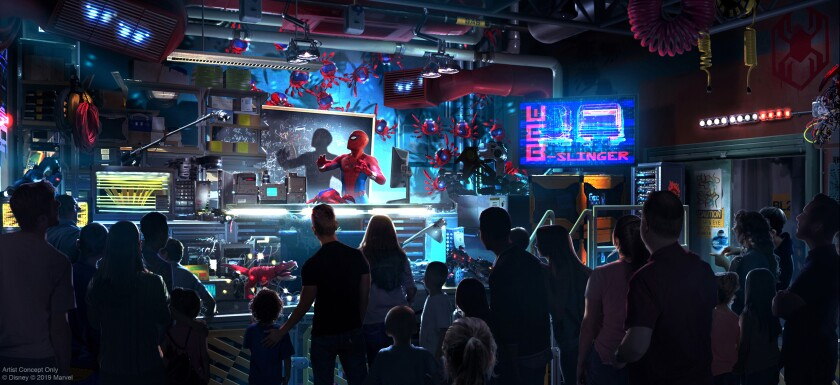 The Avengers Campus will open in 2020 at Disney California Adventure at Disneyland Resort, including the first Disney ride-through attraction to feature Spider-Man. (Disney/Marvel)