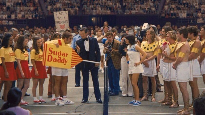 """""""Battle of the Sexes,"""" starring Steve Carell and Emma Stone, captures the circus-like spectacle of t"""