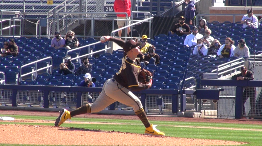 Adrian Morejon started the Padres' Cactus League opener.