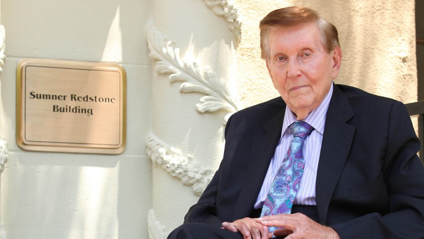 Viacom founder Sumner Redstone at his building dedication at Paramount Pictures in 2012.