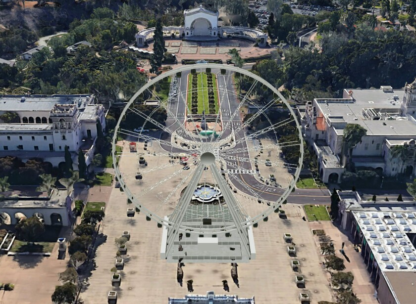 A conceptual rendering of the Balboa Park Star.