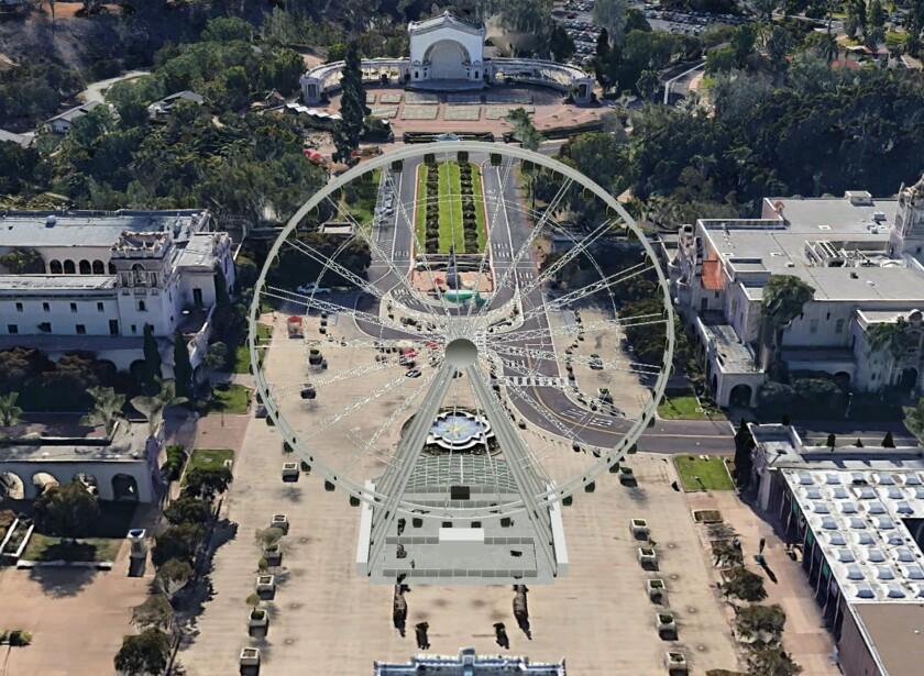 A conceptual rendering of the Balboa Park Star.