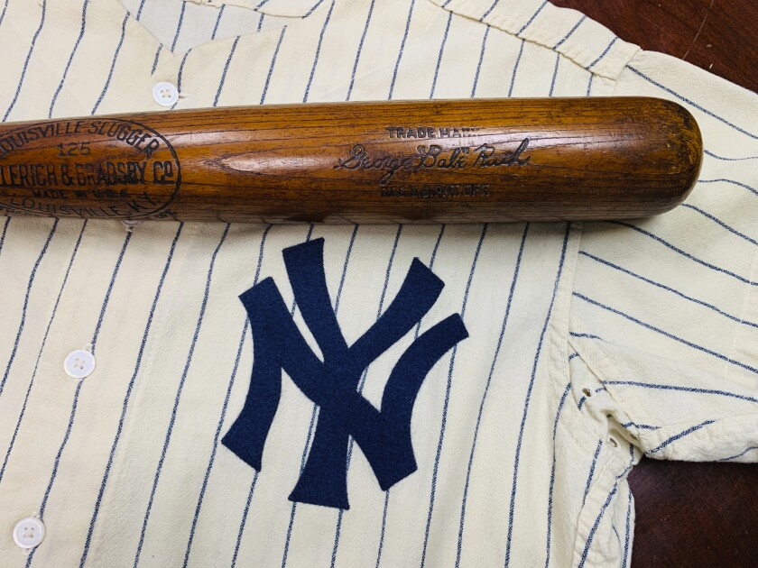 The bat used by Babe Ruth to slug his 500th career home run