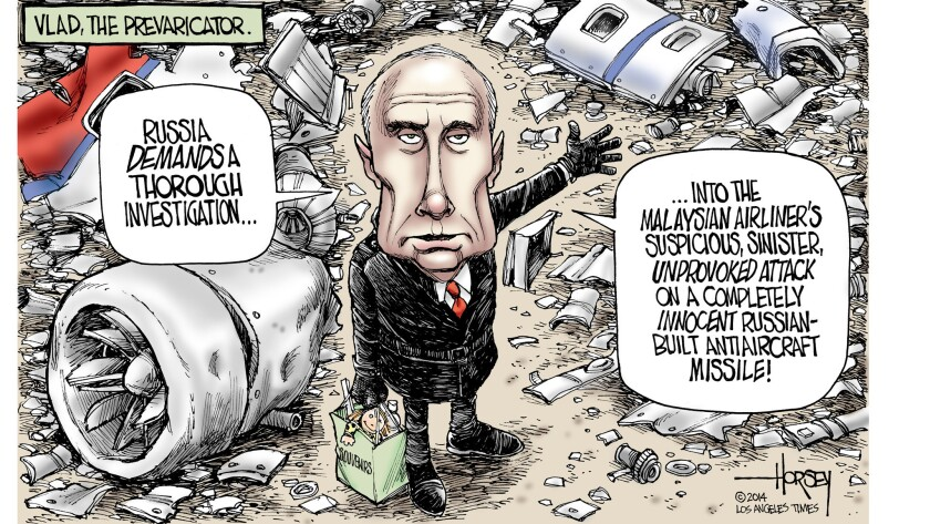 Vladimir Putin evades responsibility for Malaysia Airlines disaster