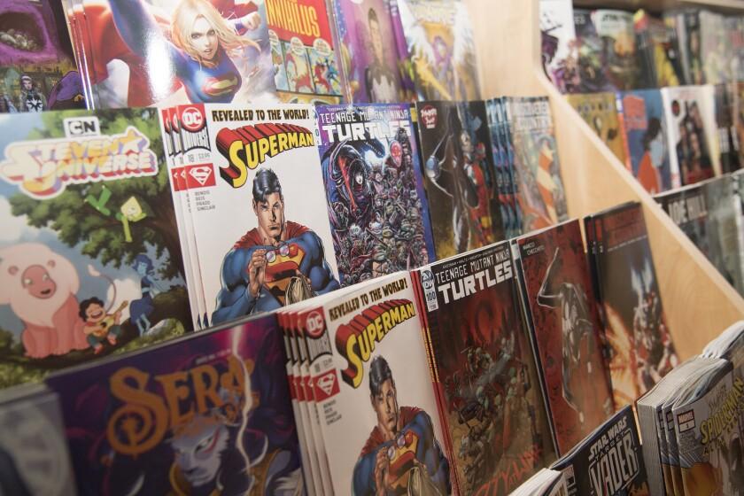 Comic books at Pop Comics in Anaheim