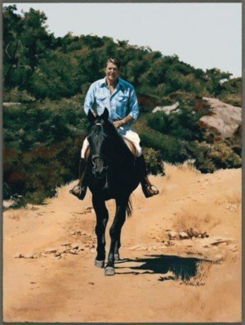 Anne Waddell was commissioned to paint this portrait of Ronald Reagan.