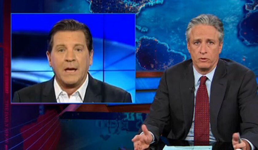 "Jon Stewart tackles the climate change debate on ""The Daily Show's"" first night back."