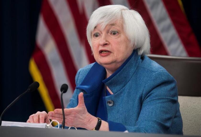La presidenta de la Reserva Federal (Fed), Janet Yellen, destacó hoy el buen nivel de empleo en Estados Unidos y dijo que el país goza de las mejores condiciones del mercado de trabajo en cerca de una década. EFE/ARCHIVO