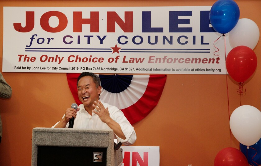 Los Angeles City Councilman John Lee