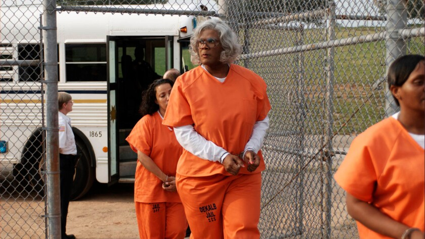 "Tyler Perry stars as Madea in ""Madea Goes to Jail."""