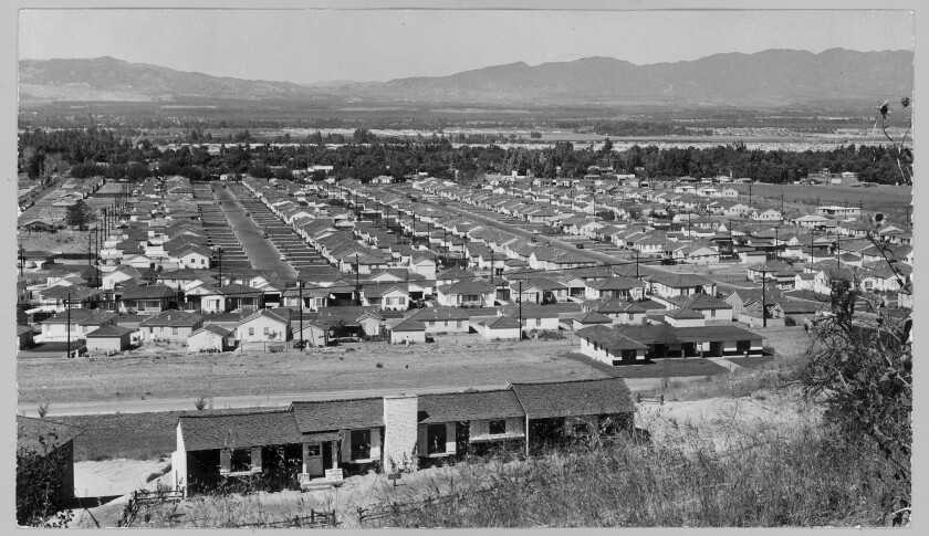 Housing tract in Encino in 1950.