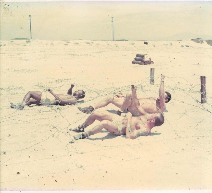 SEAL training on the Silver Strand in Coronado in 1964.