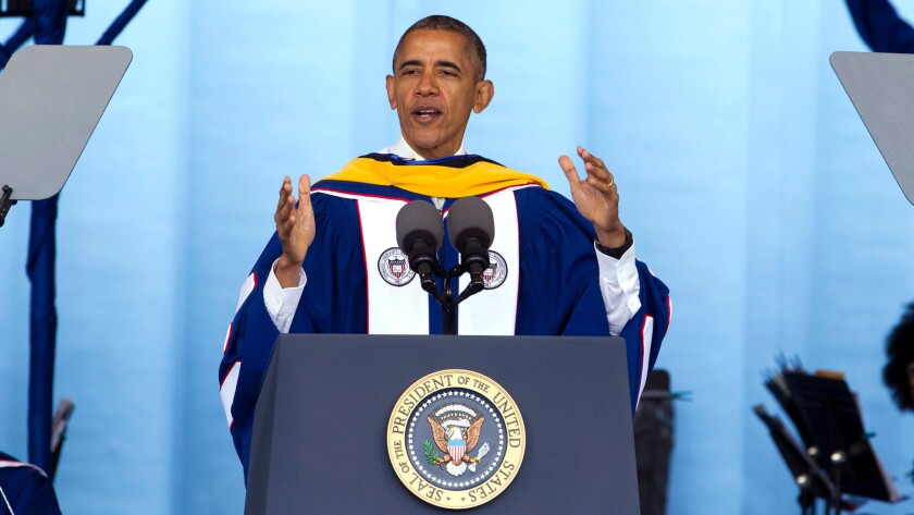 President Obama delivers Howard University's commencement speech
